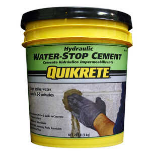 Quikrete  Hydraulic Water Stop Cement  20 lb.