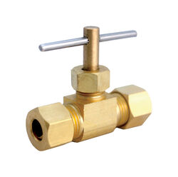 JMF  Compression in. Compression in. Brass  Needle Valve