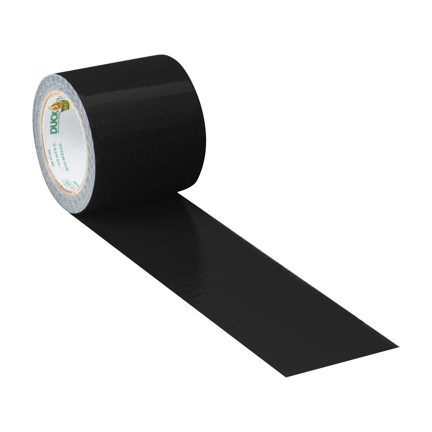 Duck  1.88 in. W x 5 yd. L Black  Solid  Duct Tape