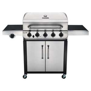 Char-Broil  Performance  5 burners Propane  Grill  Silver  45000 BTU