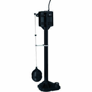 Flotec  1/3 hp 3000 gph Thermoplastic  Submersible Pedestal Sump Pump