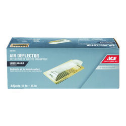 Ace  2-3/4 in. H x 10 - 14 in. W 1-Way  Silver  Plastic  Air Deflector