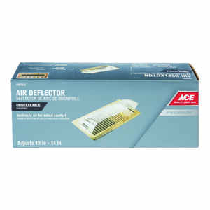 Ace  3-3/4 in. H x 15-3/4 in. W Clear  Plastic  Air Deflector