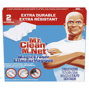 Mr. Clean  Xtra power  Heavy Duty  For Multi-Purpose Magic Eraser  4.6 in. L 2 pk