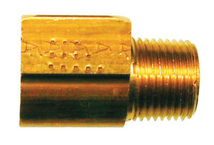 JMF  1/4 in. Flare   x 1/8 in. Dia. Male  Brass  Inverted Elbow