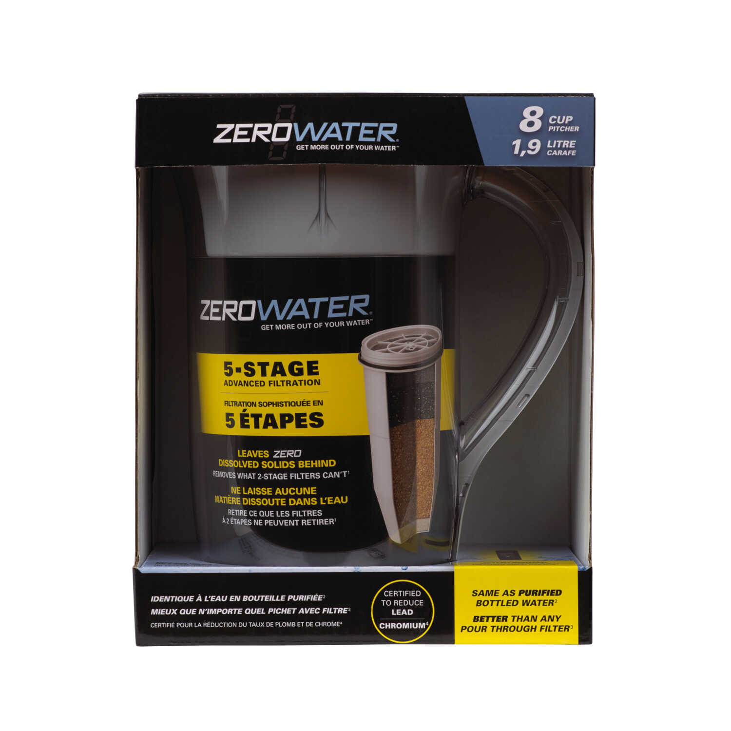 Zero Water  64 oz. Clear  Water Pitcher