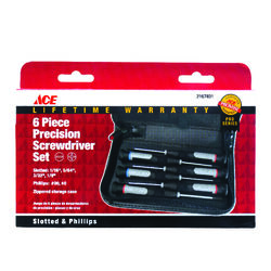 Ace  6 pc. Precision Screwdriver Set  10.35 in.