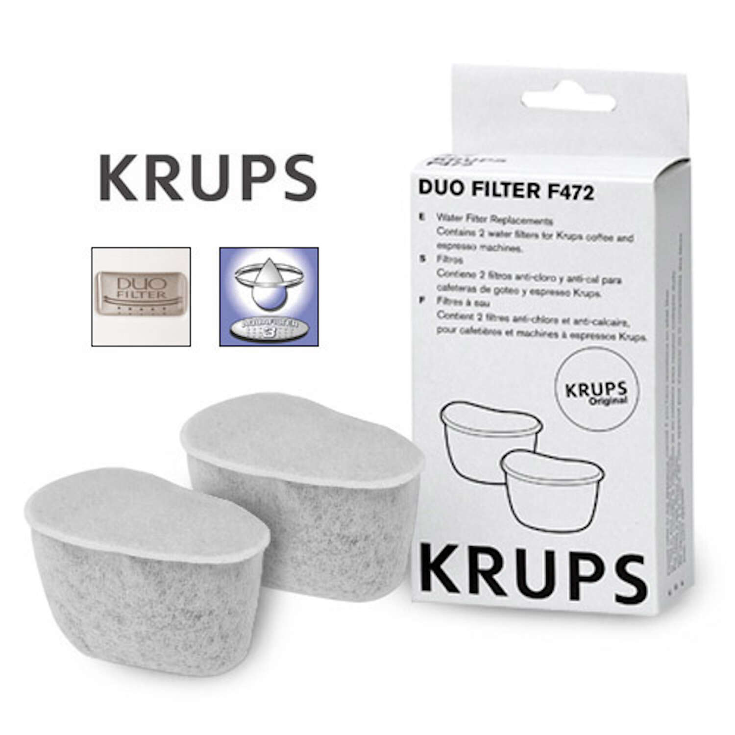 Krups  10 cups Basket  Water Impurity Filter  2 each
