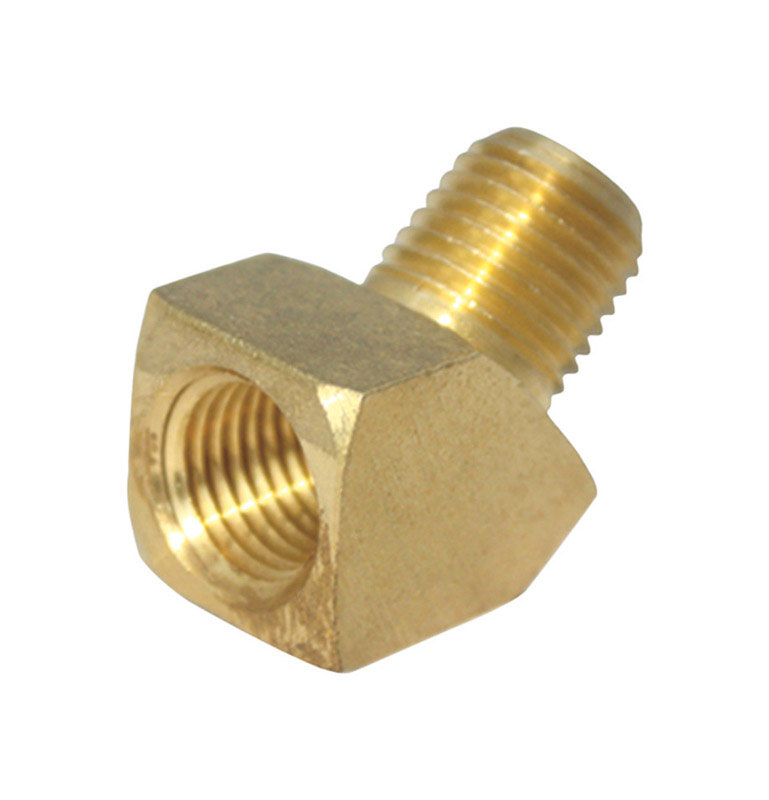 Ace  3/8 in. Dia. x 3/8 in. Dia. FPT To MPT To Compression  45 deg. Yellow Brass  Street Elbow