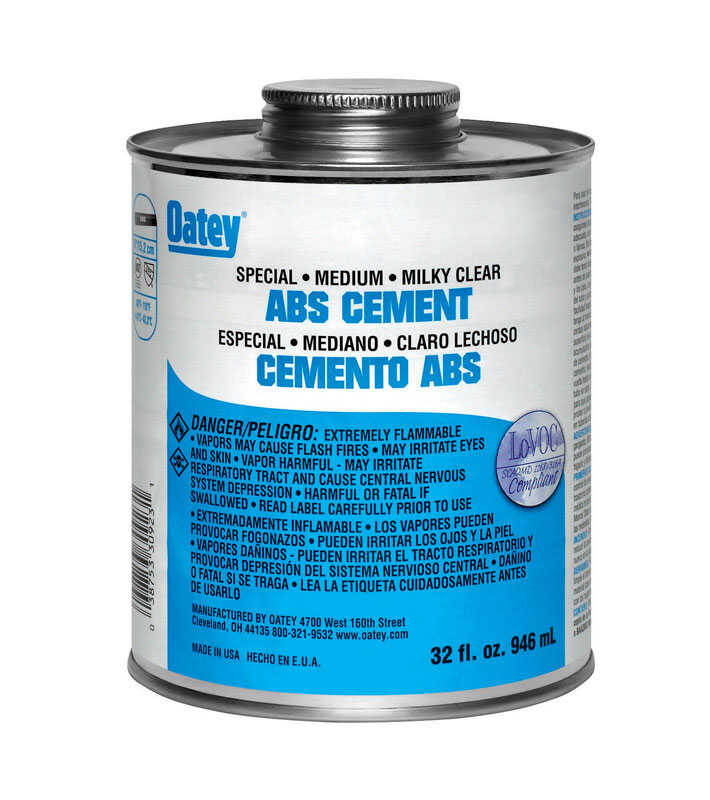 Oatey  Special  Milky Clear  Cement  For ABS 16 oz.
