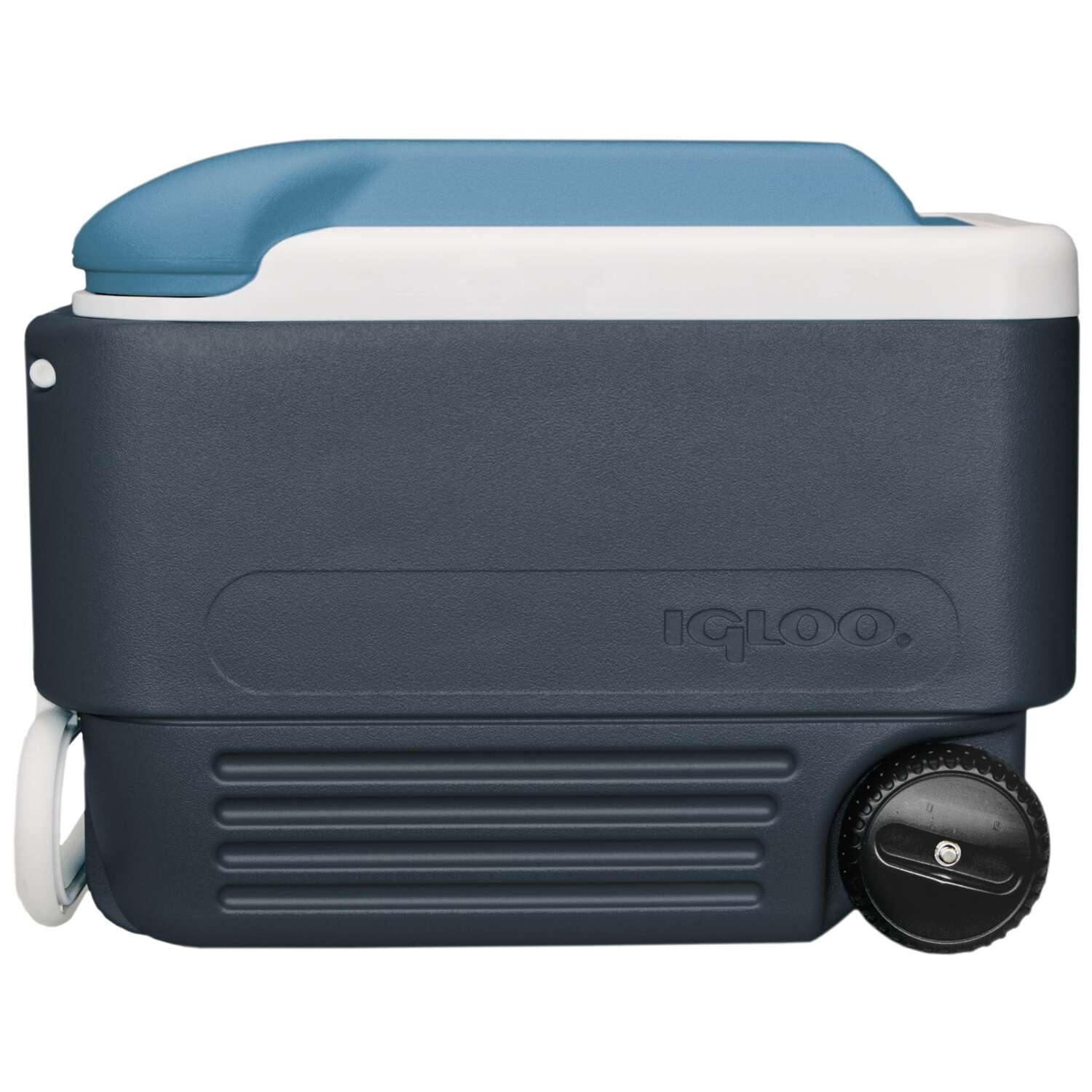 Igloo  MaxCold  Roller Cooler  40 qt. Blue