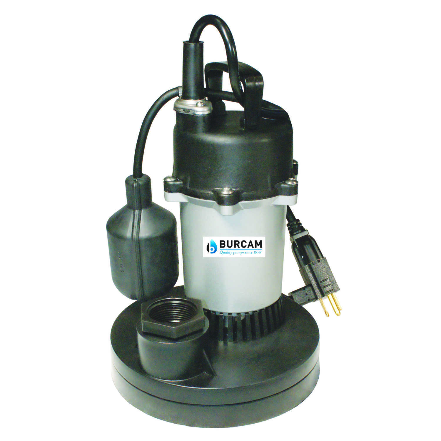 Burcam  1/2 hp 3200 gph Thermoplastic  Submersible Sump Pump