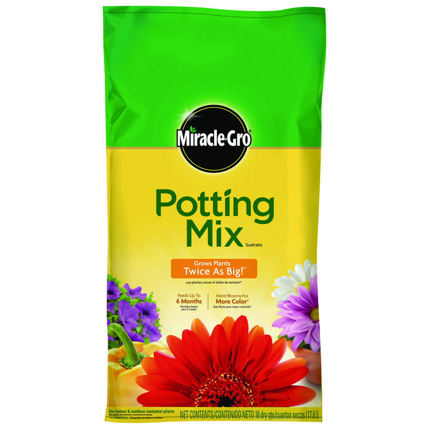 Miracle-Gro Flower and Plant Potting Mix 16 qt.