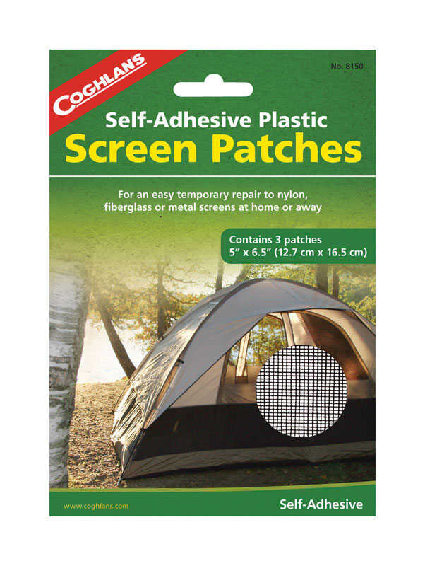 Coghlan's  Tent Screen Patches  7.375 in. H x 6-1/2 in. W x 5 in. L 3 pk