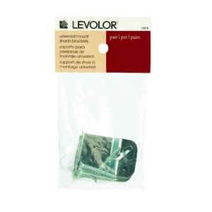 Levolor  Silver  Window Shade Bracket  3.3 in. W x 4.4 in. L