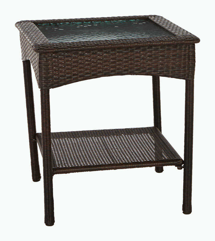 Living Accents  Brown  Astoria  Rectangular  Glass  End Table