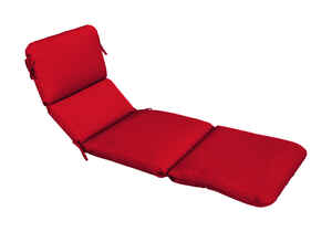 Casual Cushion  Red  Polyester  Seating Cushion  3.5 in. H x 23 in. W x 74 in. L