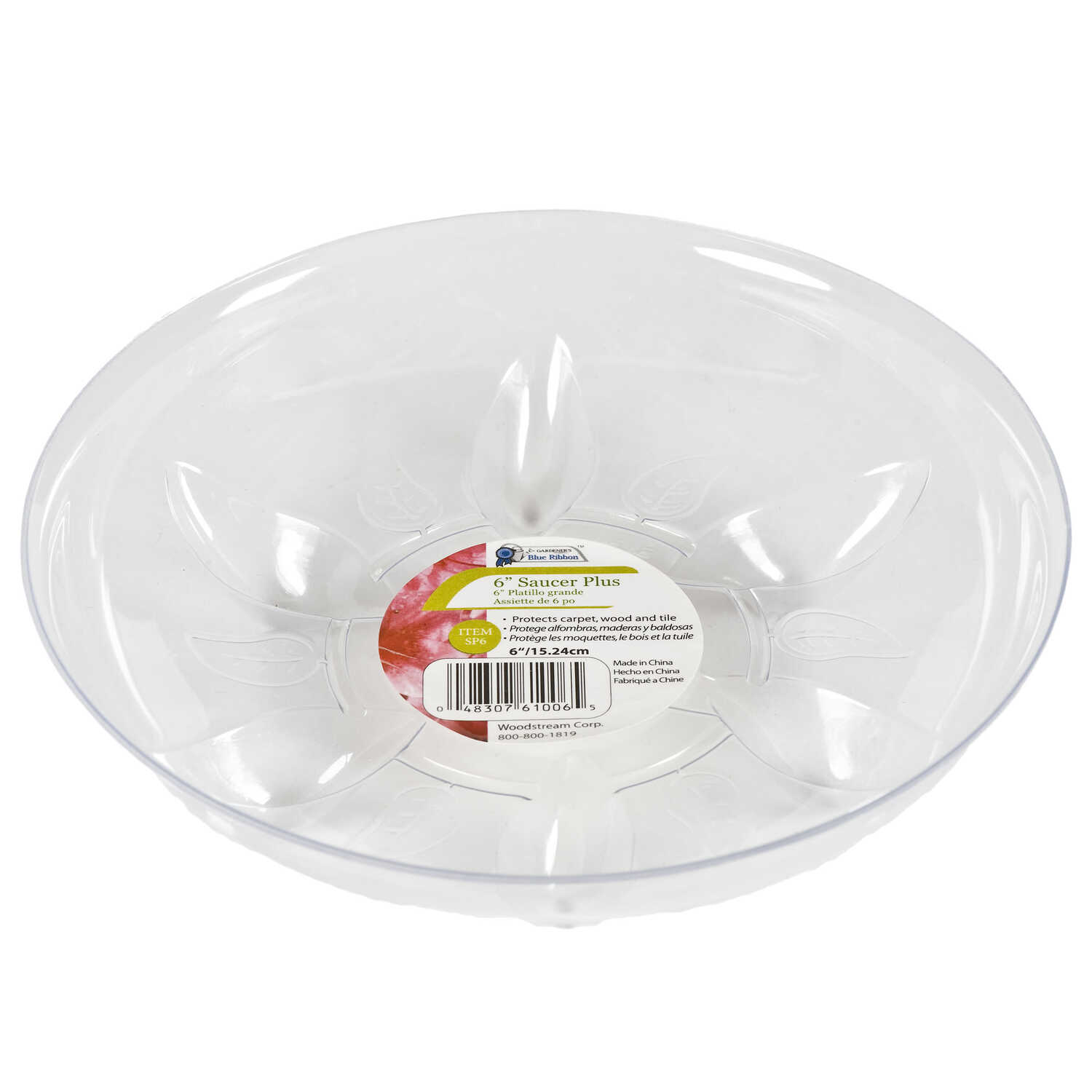 Gardeners Blue Ribbon 6 In W Plastic Plant Saucer Clear