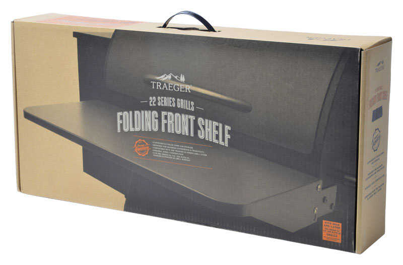 Traeger  Steel  Front Shelf  For Smoker 22 Series, Pro 575 and Ironwood 650 Models