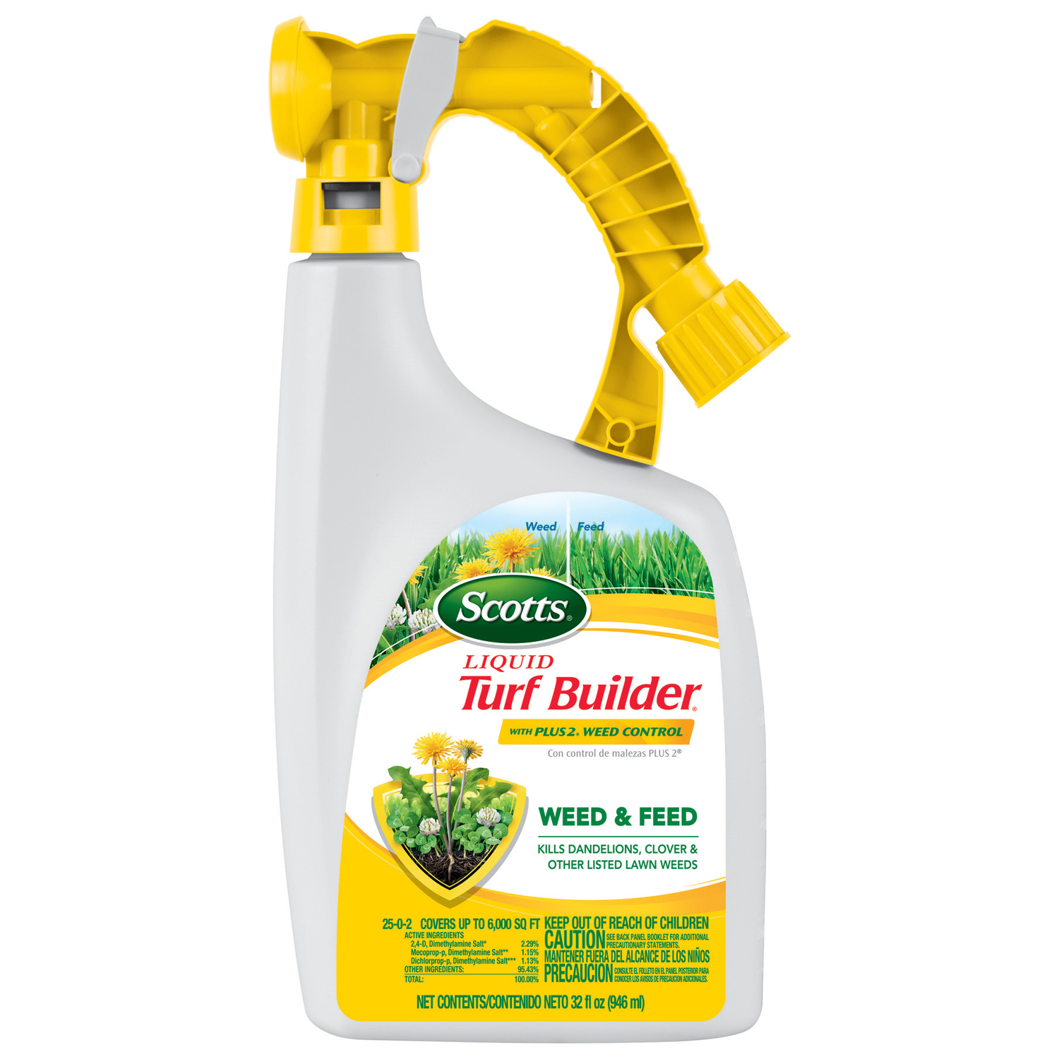 Scotts  Turf Builder  25-0-2  Weed and Feed  For All Grass Types