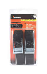 Keeper 1 in. W x 13 ft. L Black Lashing Strap 200 lb. 2 pk
