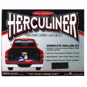 Herculiner  Black  Truck Bed Coating Kit  1 gal.