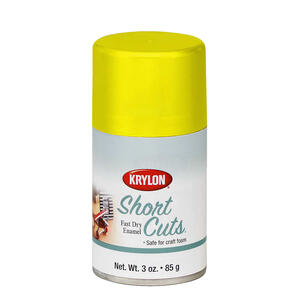 Krylon  Short Cuts  Gloss  Sun Yellow  Spray Paint  3 oz.