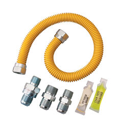Dormont  SmartSense  1/2 in. OD   x 1/2 in. Dia. OD  60 in. Stainless Steel  Gas Connector Kit