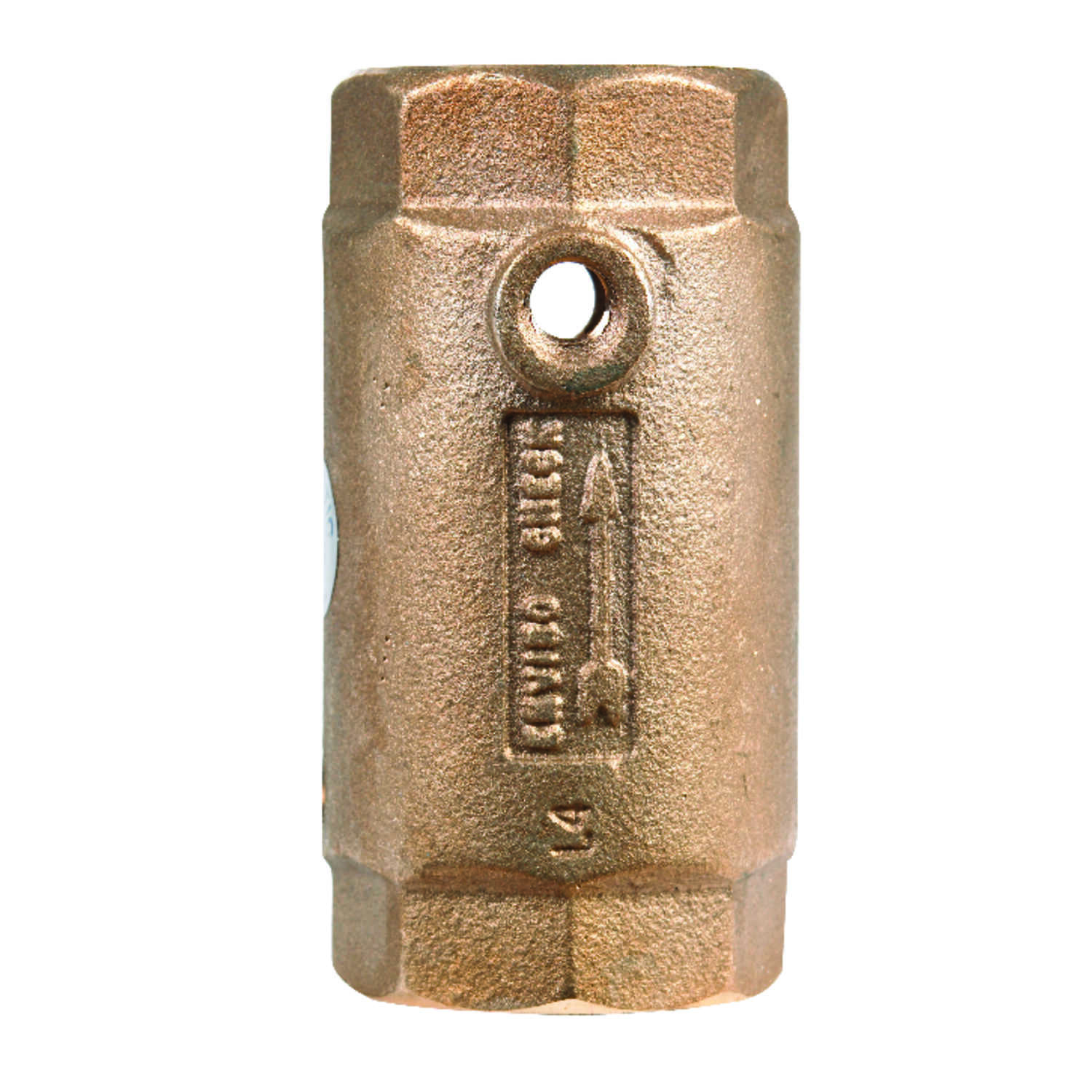 Campbell  1 1/4 in. 1-1/4 in. FNPT  Red Brass  Spring  Check Valve