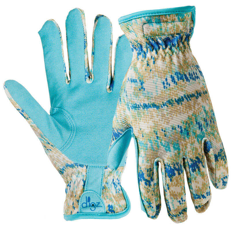 Digz  Blue  Women's  S  Spandex  Gardening Gloves