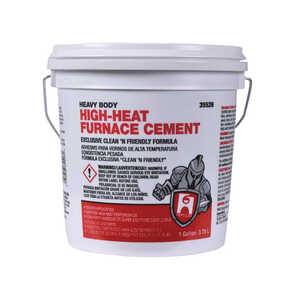 Hercules  Oatey  White  For Furnace 1 gal. High Heat Furnace Cement