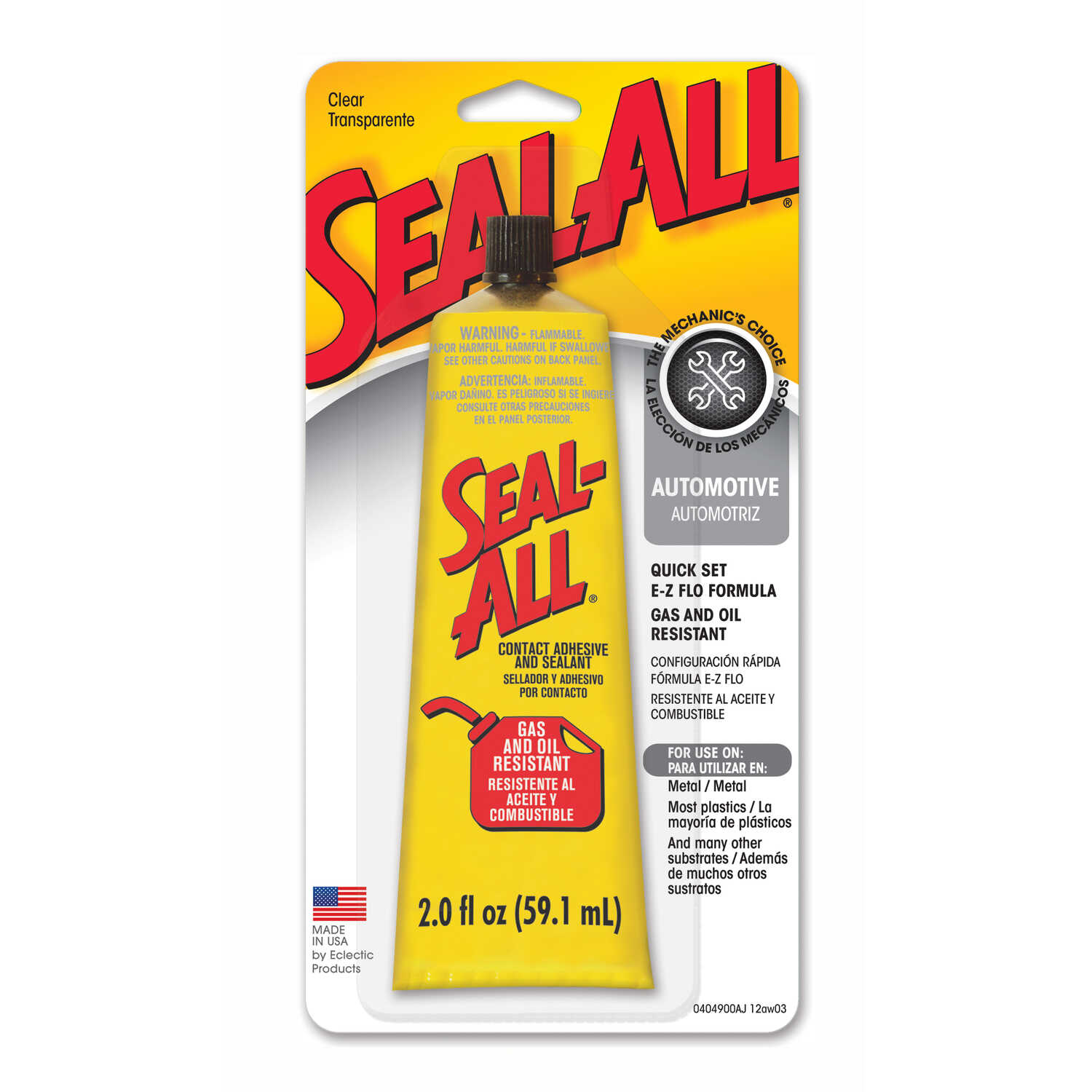 Seal-All High Strength Liquid Gas and Oil Resistant Adhesive