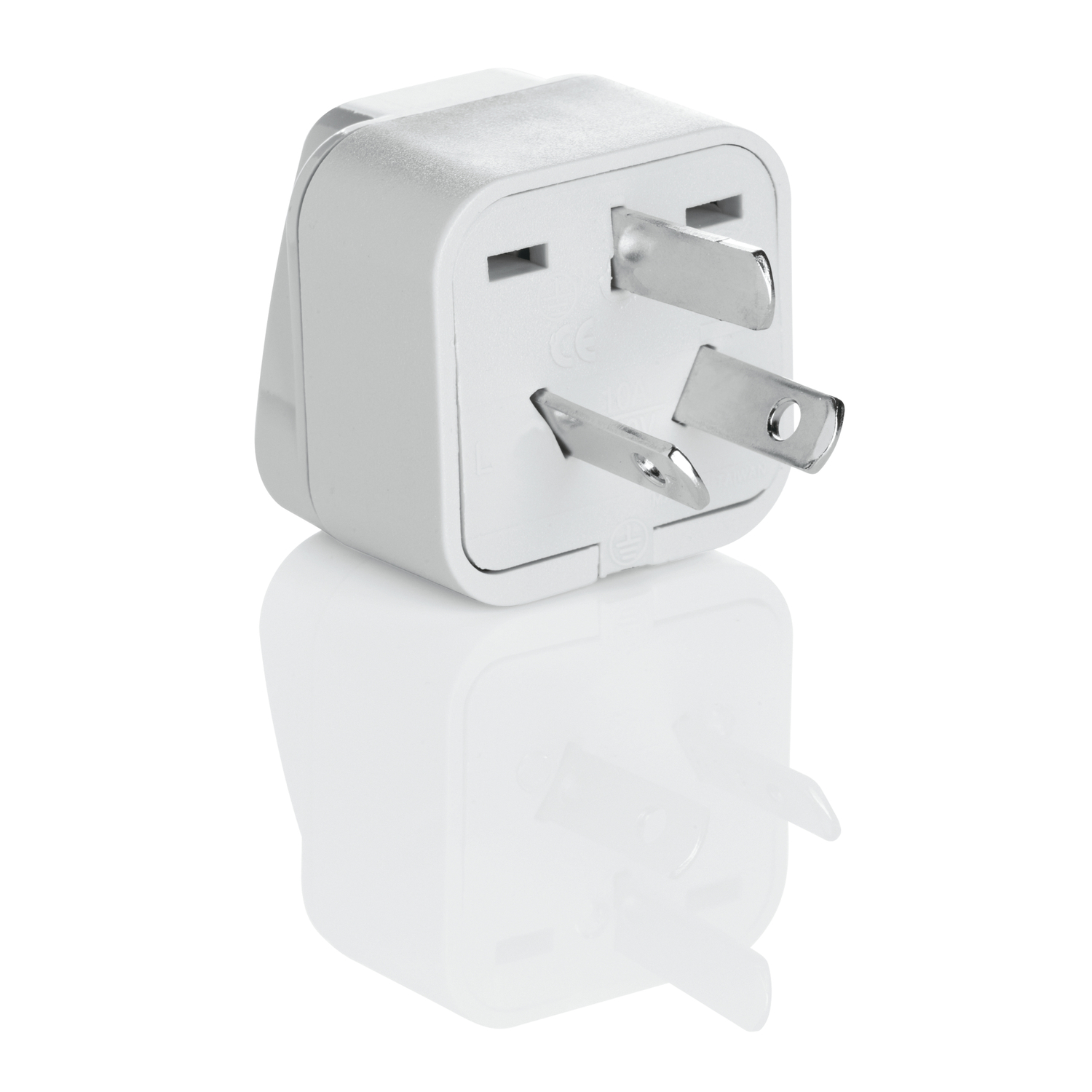 Travel Smart  Type I  Grounded Adapter Plug  For Worldwide