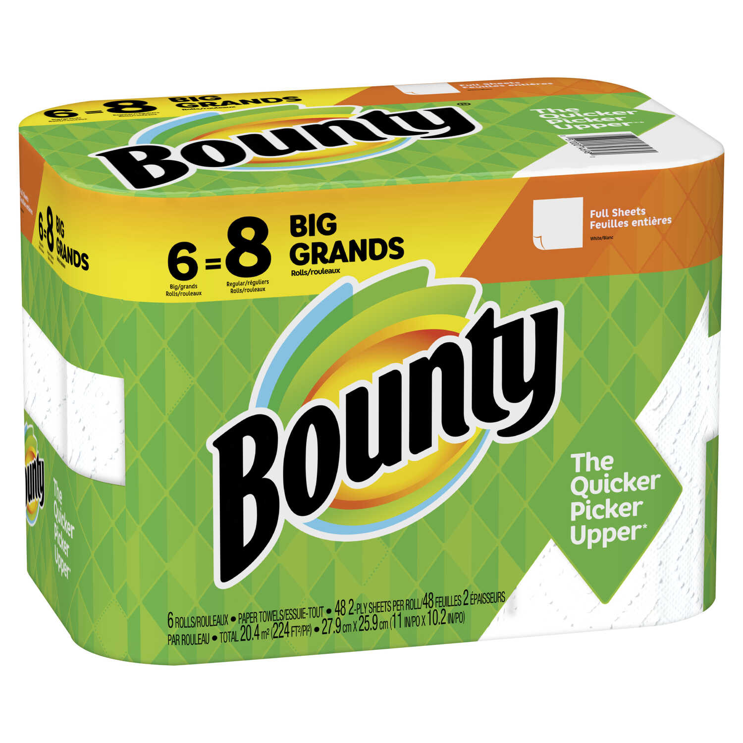 Bounty  Paper Towels  54 sheet 2 ply 6 pk