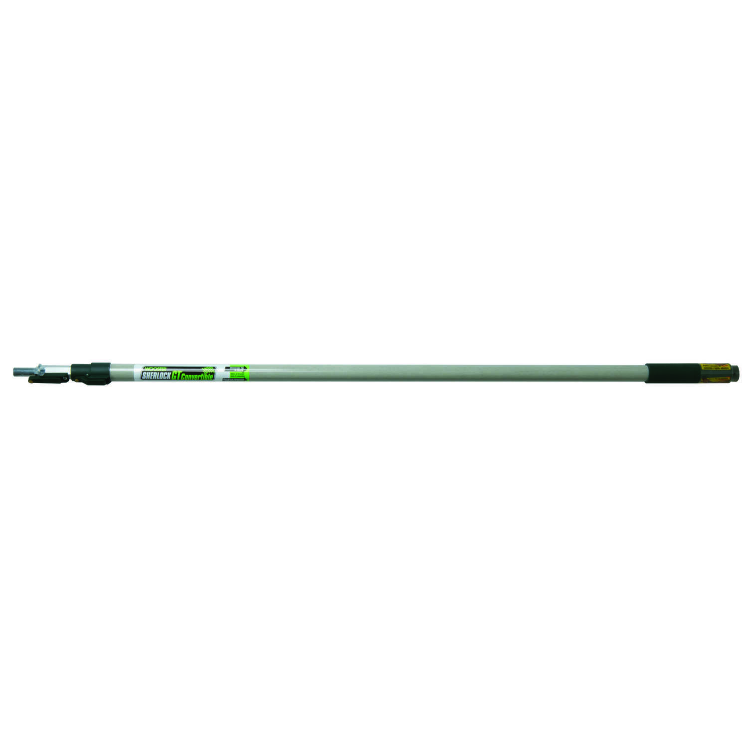 Wooster  Sherlock  Telescoping 4-8 ft. L x 1 in. Dia. Aluminum  Extension Pole  Black/White