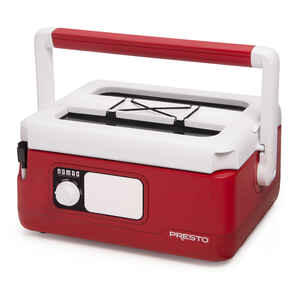 Presto  Nomad  6 qt. Red  Plastic  Slow Cooker