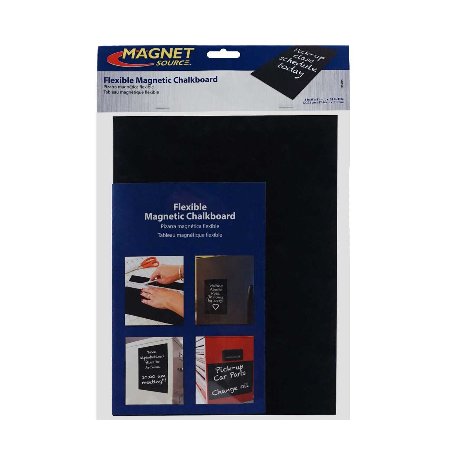 Master Magentics  11 in. Ferrite Powder/Rubber Polymer Resin  Magnetic Chalkboard  Black  1 pc. 0.6