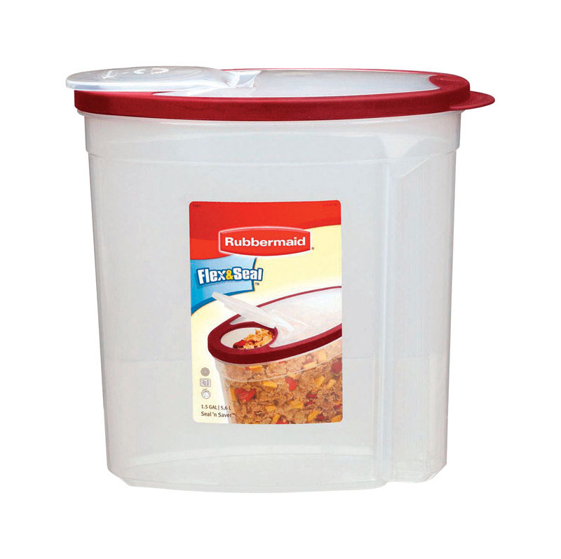 Rubbermaid  Flex & Seal  1.5 gal. Food Storage Container