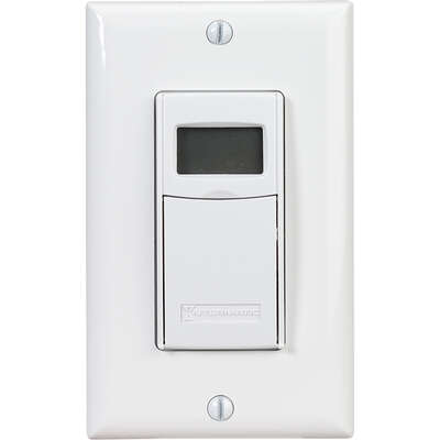 Intermatic  Indoor  Digital In Wall Timer  120 volt White