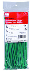 Gardner Bender 8 in. L Green Cable Tie 100 pk