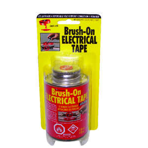 Blue Magic  1 mm W Red  Rubber  Brush-On Electrical Tape