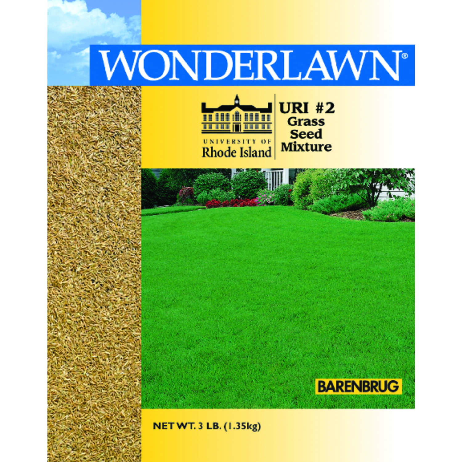 Barenbrug Wonderlawn Rhode Island Full Sun/Light Shade Lawn Seed Mixture 3 lb.