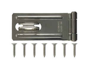 Ace  Stainless Steel  3-1/4 in. L Fixed Staple Safety Hasp