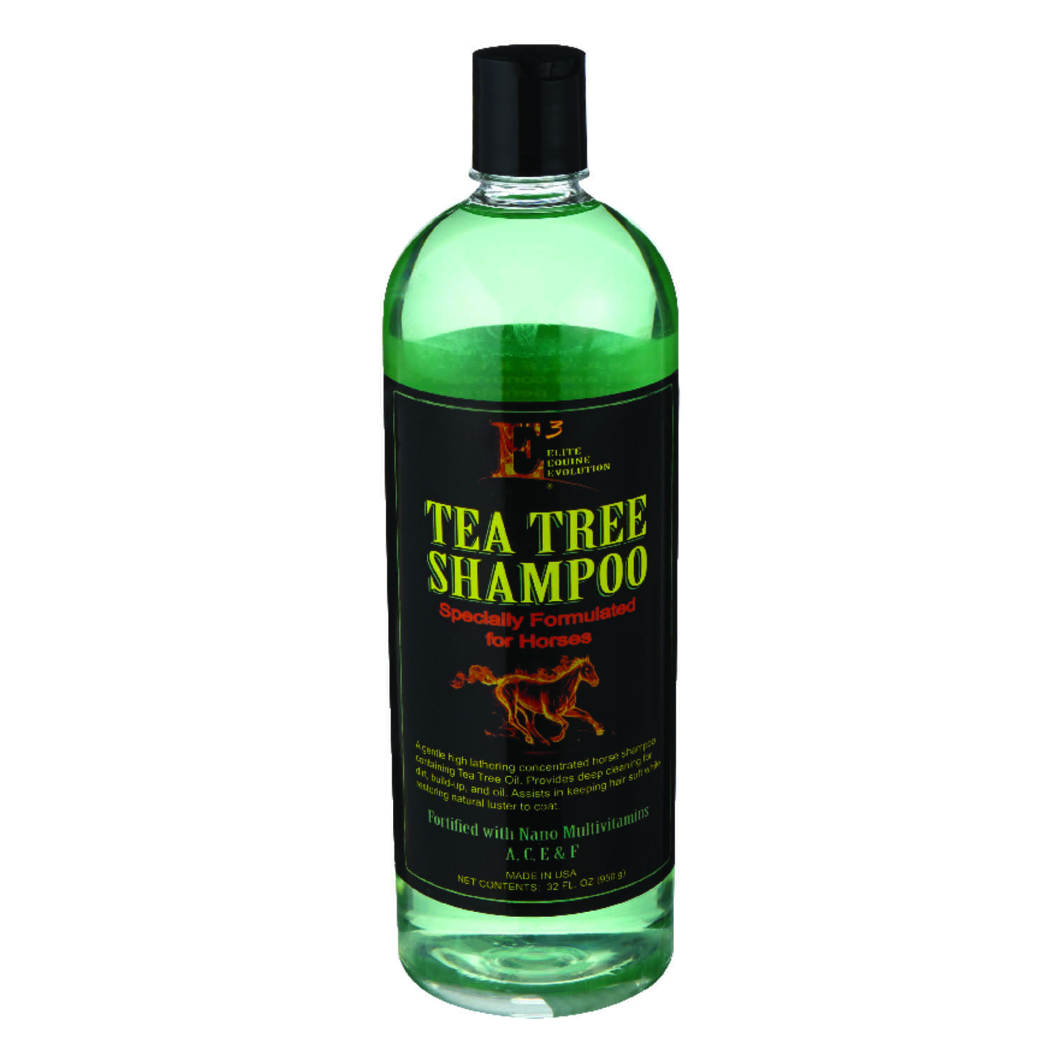 E3  Liquid  Tea Tree Shampoo  For Horse 32 oz.