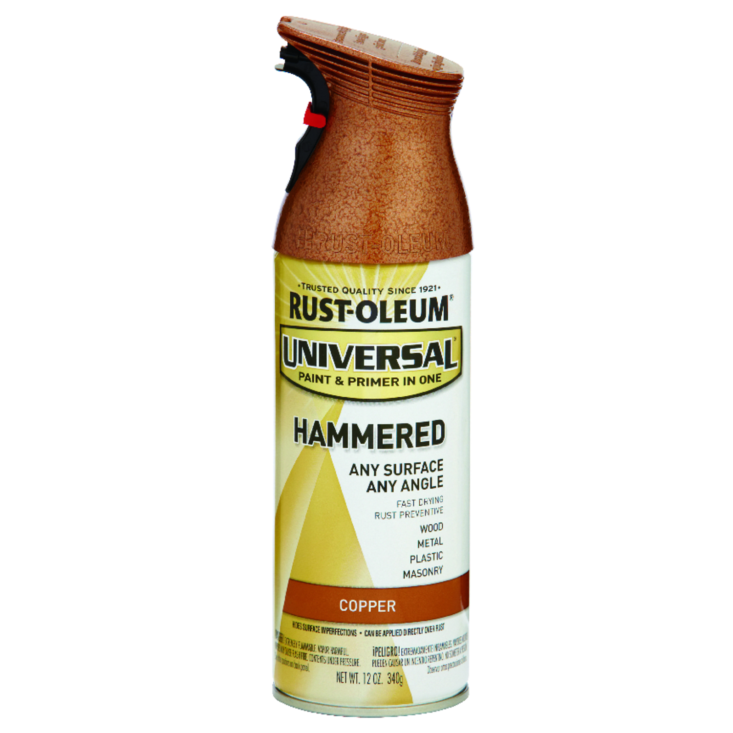 Rust-Oleum Universal Hammered Spray Paint Copper 12 oz. - Ace Hardware