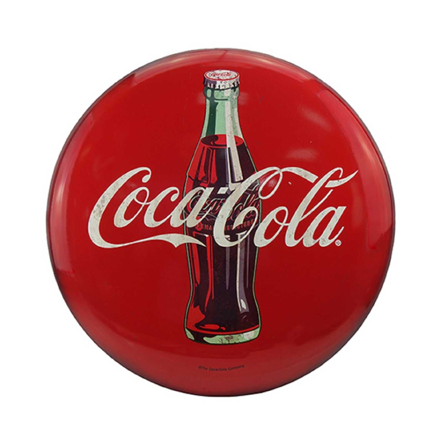 Open Road Brands  Coca-Cola  24 in. H x 1.9 in. W x 24 in. L Red  Metal  Tin Sign