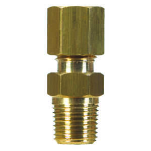 JMF  5/8 in. 1/2 in. Dia. x 1/2 in. Dia. x 1/2 in. Dia. x Compression   Male Adapter  Brass  Compres