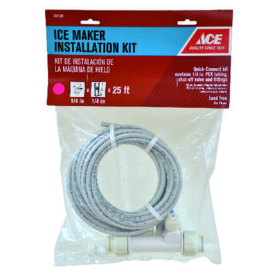 Ace  1/4 in. Dia. x 1/2 in. Dia. Ice Maker/Water Line Installation Kit