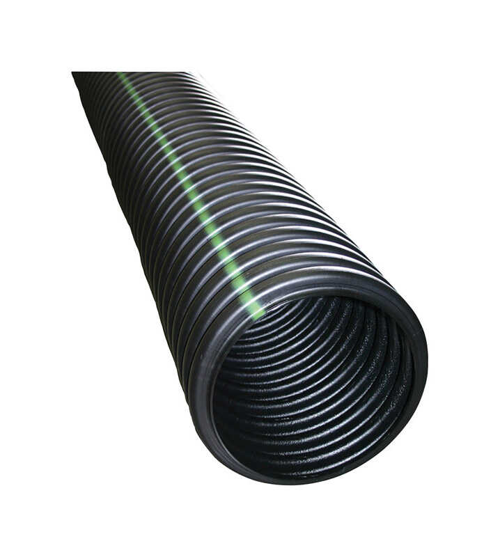 ADS  10 ft. L x 3 in. Dia. x 3-5/8 in. Dia. Black  Polyethylene  Drain Tubing