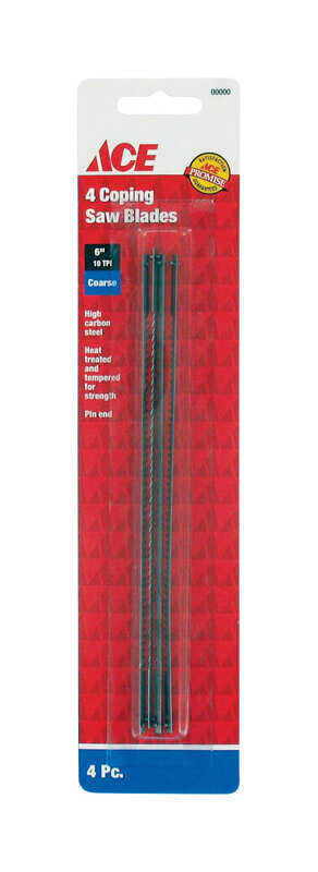 Ace  6.5  Carbon Steel  Coping Saw Blade  10 TPI 4 pk